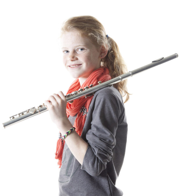Swindon Music Trust girl musician with flute